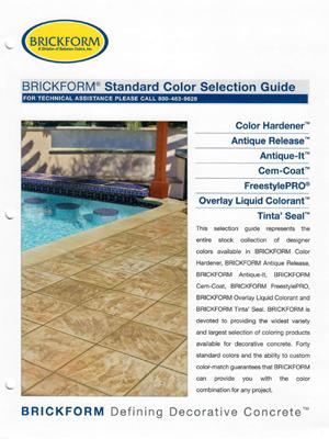 brickform color chart