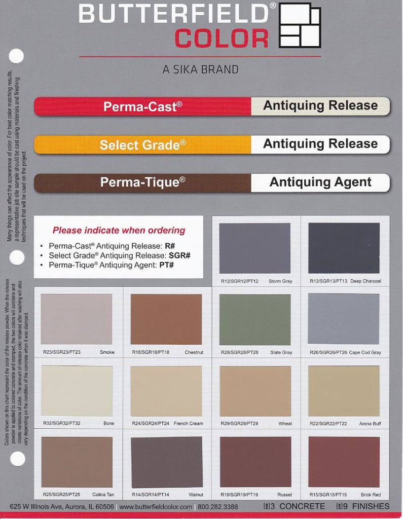 ButterField Color Chart